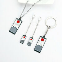 Demon Slayer Blade Earrings Necklace Jewelry Student Creative Fashion Keychain