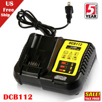 For DEWALT DCB112 12V/20V Max Li-Ion Fast Charger Replaces DCB101 DCB100 DCB107