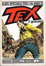 ALBO SPECIALE PER I 40 ANNI DI TEX IL GRANDE - SUPPLEMENTO DEL N°332, GIUGNO '88
