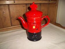 Novelty red post box china teapot 23 cm tall