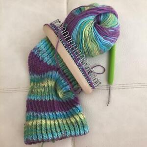 Knitting Craft Loom Knit Tool knitter Circular Peg Kit Hat Sock Scarf Clothes JH