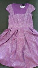 Warehouse Lilac Brocade Prom Dress Full Skirt Small Size 12 Fully Lined New