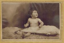 Carte Photo vintage card RPPC Ivry Port bébé drap voile fourrure pz0213