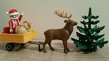 Playmobil  père Noël traîneau rennes et cadeaux