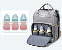 Diaper Bag Backpack Baby Diaper Foldable Travel Bassinet Portable Crib Sleep Bed