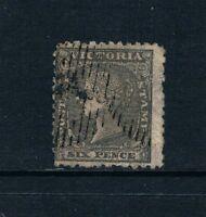 """Victoria - 1861 - 6d QV Portrait - Black - WMK """"SIX PENCE"""" - SC 27 [SG 102] USED"""