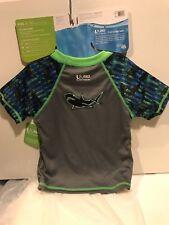 Speedo UV Sun Shirt Kids Boys Small Ages 1-2 UV 50+ Swim Shirt Weight 25-33 lbs