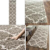 hudson shag gray/ivory 2 ft. x 6 ft. runner rug | safavieh collection grey glam