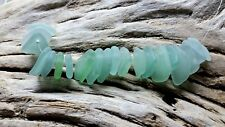 Sea Glass - 20 Small pieces of Top Drilled Aqua Blue / Sea Foam Green