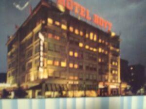 VINTAGE PHOTO POST CARD @ DUSK HOTEL HOYT  PORTLAND OREGON