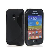 Silikonschutzhülle Samsung S7500 Galaxy Ace  Plus Schwarz  TPU Silikon Hülle