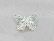 60PCS Bright silver plate 19X15MM butterfly charms A1266SP