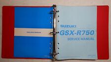 GENUINE SUZUKI 2000 GSX-R750 DEALER SERVICE MANUAL & LOGO RING BINDER OEM