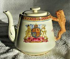 Paragon China England King George VI & Queen Elizabeth Commemorative Teapot 1939