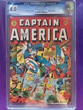 CAPTAIN AMERICA COMICS #29 CGC VF 8.0; CM-OW; Classic Schomburg WW2 cvr! (8/43)!