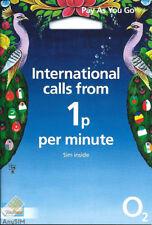 O2 International SIM Card NETWORK PAY AS YOU GO 02 SIM CARD SEALED 02