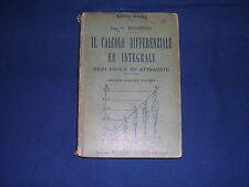 Bessiere Il calcolo differenziale e integrale Hoepli 2a edizione 1930