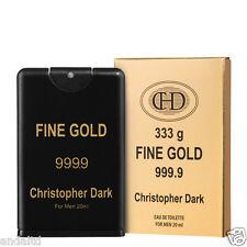 Christopher Dark Fine Gold Eau De Toilette Natural Spray for Men 20ml