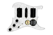 920D Seymour Duncan HSH P-Rails Loaded S Style Pickguard White Pearl / Black