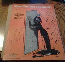 SHEET MUSIC OPEN THE DOOR RICHARD 1947
