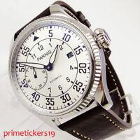 PARNIS Schwarz / Weiß 45mm Automatik Herrenuhr Datum ST2555 Automatikwerk
