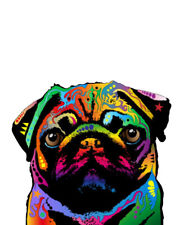 """""""Trippy Pug"""" T-shirt -All Sizes *High Quality* colorful hippie tribal"""