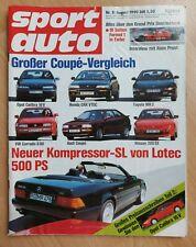Sport Auto 8/1990 - CRX - MR2 - VW Corrado G60 - Lotec 500 SL - Honda NSX