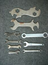 Lot of 9 - Vintage Small Assorted Specialty Wrenches