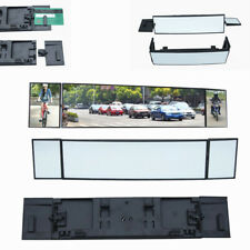 380mm Wide Convex Interior Clip On Car Truck Van Three Folds Rear View Mirror
