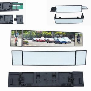 380mm Wide Convex Interior Clip On Car Truck Van Three Folds Rear View Mirror