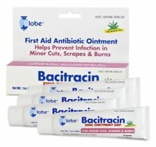 Bacitracin Zinc Ointment 1 oz, with ALOE, 4 tubes