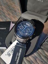 NEW Emporio Armani AR1452 Black Ceramic / Matte Men's Watch - RRP £399.00