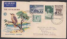 1960 2'4 Total Aat Australia Wcs Kookaburra Cover Angola West Africa (See Back)