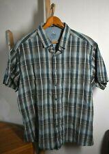 KUHL Men's XXL Tapered Fit Linen/Cotton Short Sleeve Plaid Shirt *Mint* Unworn?