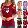 Summer Women Crew Neck T Shirt Short Sleeve Strapless Tops Loose Casual Blouse
