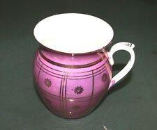 Vintage Czech-4 Inch Porcelain Cup/Pitcher/Vase-Purple Luster-W/Gold Trim
