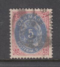 Denmark Sc 27 Numeral 5o Rose & Blue VF Used