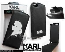Funda iPhone 5 KARL Lagerfeld Piel Negra Gaffiti