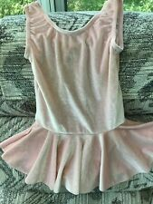 Duck Crossing light pink velvet sparkle skating dance dress girl med. 8-10 Euc!