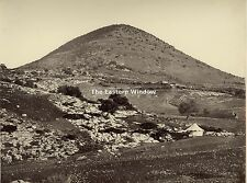Palestine - Mount Tabor by Bonfils. c 1873 Early albumen view 11,3 x 8,8 inches.