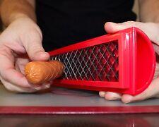 SLOTDOG-HOT DOG SLICER AMERICAN TV START UP HotDogHack BBQ LATEST STAINLESS STEL