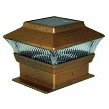 Kingfisher 5013478148667 Garden Post Solar Powered Lights Bronze