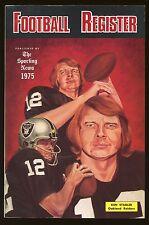 1975 The Sporting News Football Register Ken Stabler Raiders cover HOF EX-MT