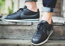 BNWB & Genuine Nike ® Classic Cortez Leather in Black Retro Trainers UK Size 10