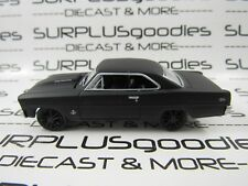Johnny Lightning 1:64 LOOSE Murdered Out Black 1967 CHEVROLET NOVA SS 327 Muscle