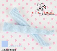 ☆╮Cool Cat╭☆【KS-114】Blythe/Pullip(1/6)Knee Socks # Pale Water Blue