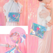 Fashion Holographic Laser Metallic Shine Handbag Crossbody Bag Envelope Clutch