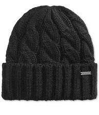e99dcc3686d Michael Kors Men Black Cuffed Cable Knit Winter Hat Ski Cap Beanie One Size