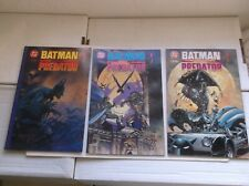 DC/DARK HORSE: BATMAN VERSUS PREDATOR #1-3, PRESTIGE, COMPLETE SET, 1991, VF+!!!