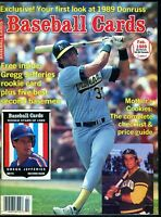 Feb 1989 Baseball Cards Magazine (with 6 insert cards) - Gregg Jefferies Rookie